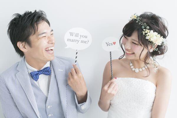 結婚する夫婦イメージ