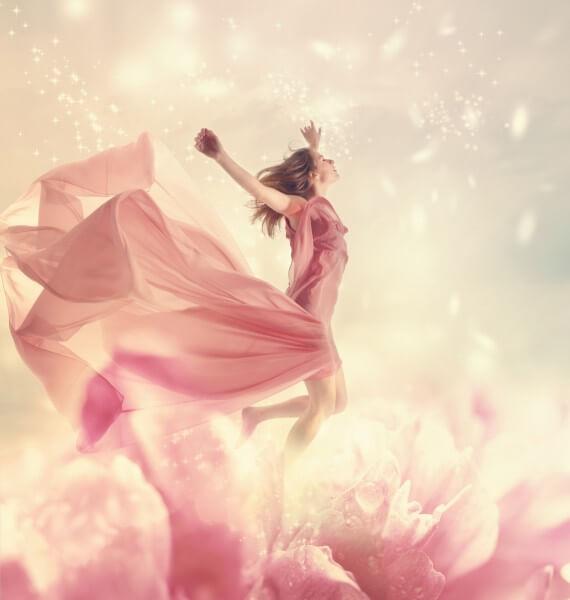 自分を解き放つ女性のイメージ