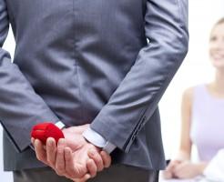 プロポーズする男性イメージ