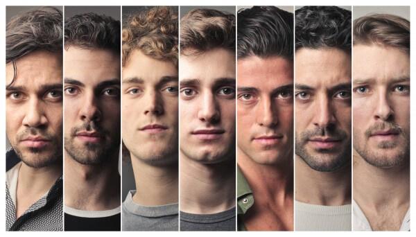 様々な男性の顔